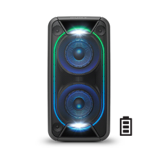 EXTRA BASS High Power Home Audio System with Battery (Black)