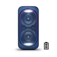 EXTRA BASS High Power Home Audio System with Battery (Blue)