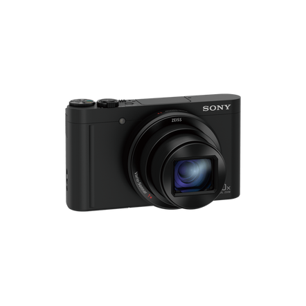 WX500 Digital Compact Camera with 30x Optical Zoom (Black)