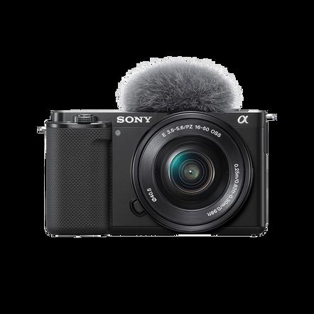 ZV-E10   Interchangeable Lens Vlog Camera with 16-50mm Lens Kit (Black), , hi-res