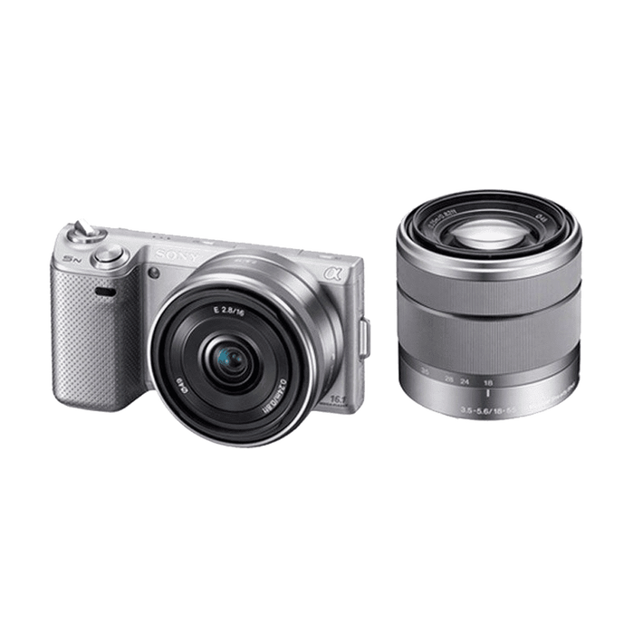 NEX-5 Twin Lens Kit with SEL16& SEL1855mm Lenses (Silver), , product-image