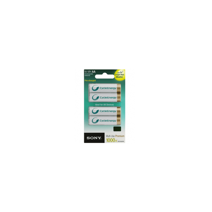Cycle Energy Multi-Use Premium AA size 4-pc Blister pack (2100mAh), , product-image