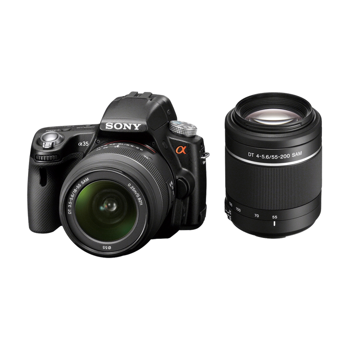 A35 Digital SLT 16.2 Mega Pixel Camera with SAL1855 and SAL55200 Lens, , product-image