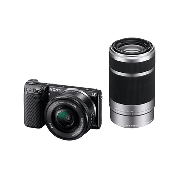 NEX5 E-mount 16.1 Mega Pixel Camera with SELP1650 Lens and SEL55210 Lens, , hi-res