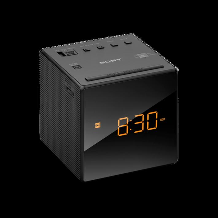 Single Alarm Clock Radio (Black), , product-image