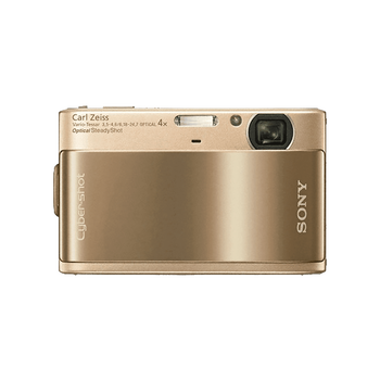 10.2 Megapixel T Series 4X Optical Zoom Cyber-shot Compact Camera (Gold), , hi-res