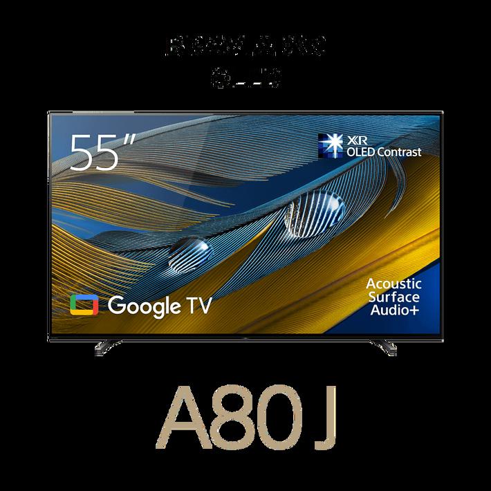 "55"" A80J   BRAVIA XR   OLED   4K Ultra HD   High Dynamic Range (HDR)   Smart TV (Google TV), , product-image"