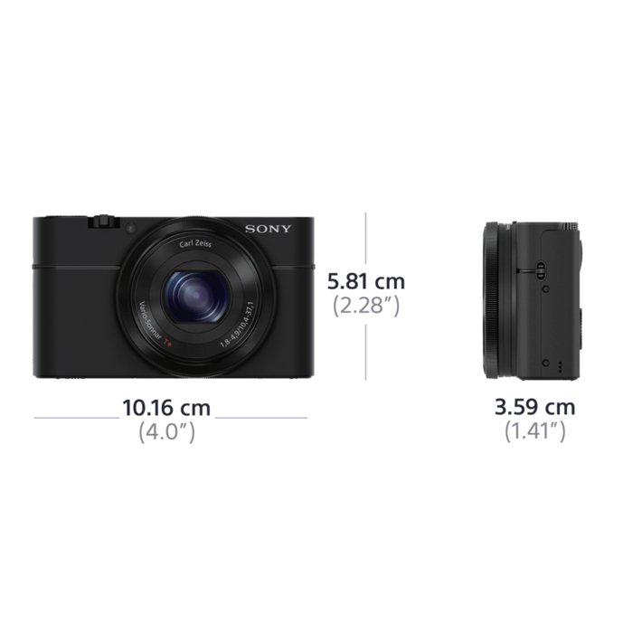 RX100 Digital Compact Camera with 3.6x Optical Zoom, , product-image