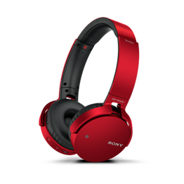 XB650BT EXTRA BASS Bluetooth Headphones (Red)