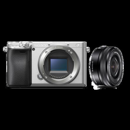 Alpha 6400 Premium Digital E-mount APS-C Camera Kit with 16-50mm Lens (Silver), , hi-res