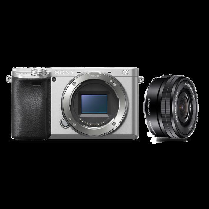 Alpha 6400 Premium Digital E-mount APS-C Camera Kit with 16-50mm Lens (Silver), , product-image