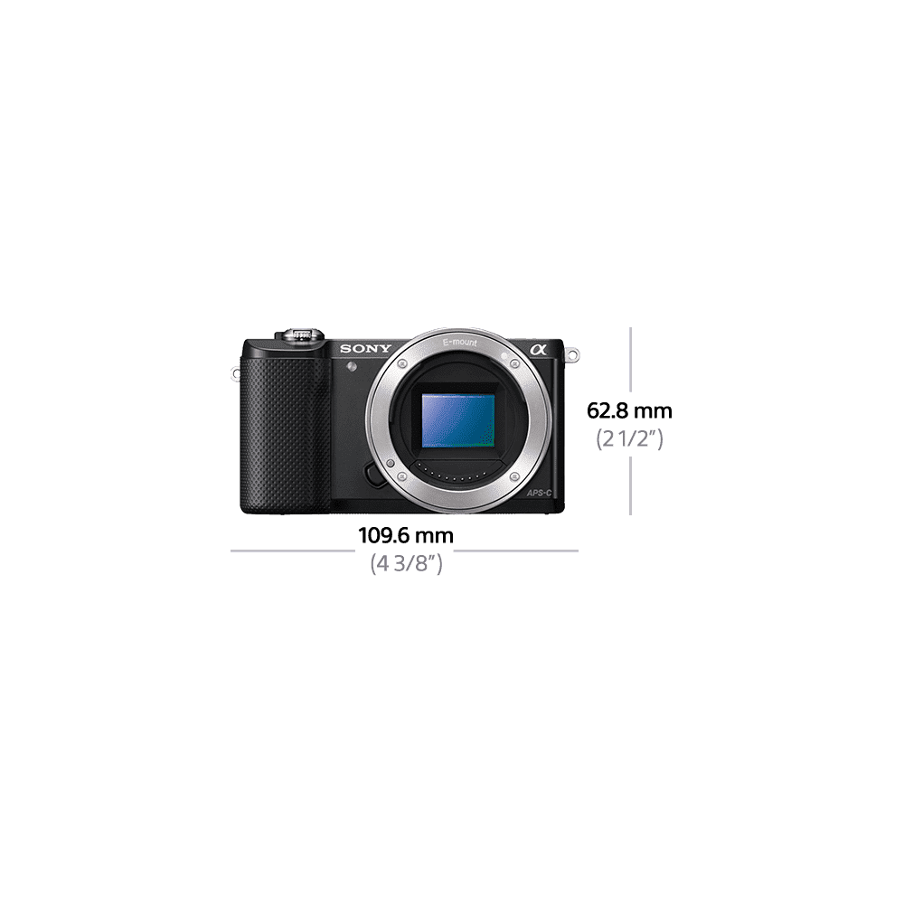 a5000 E-mount Camera with APS-C Sensor and 16-50 mm Zoom Lens, , product-image