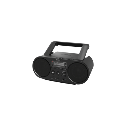 CD Boombox with AM/FM Digital Radio Tuner and USB Playback