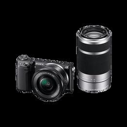 NEX5 E-mount 16.1 Mega Pixel Camera with SELP1650 Lens and SEL55210 Lens, , hi-res