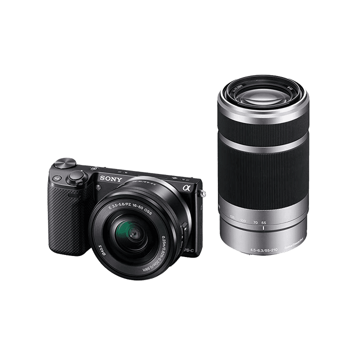 NEX5 E-mount 16.1 Mega Pixel Camera with SELP1650 Lens and SEL55210 Lens, , product-image