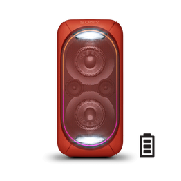 EXTRA BASS High Power Home Audio System with Battery (Red), , hi-res