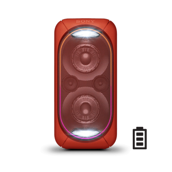 EXTRA BASS High Power Home Audio System with Battery (Red), , lifestyle-image