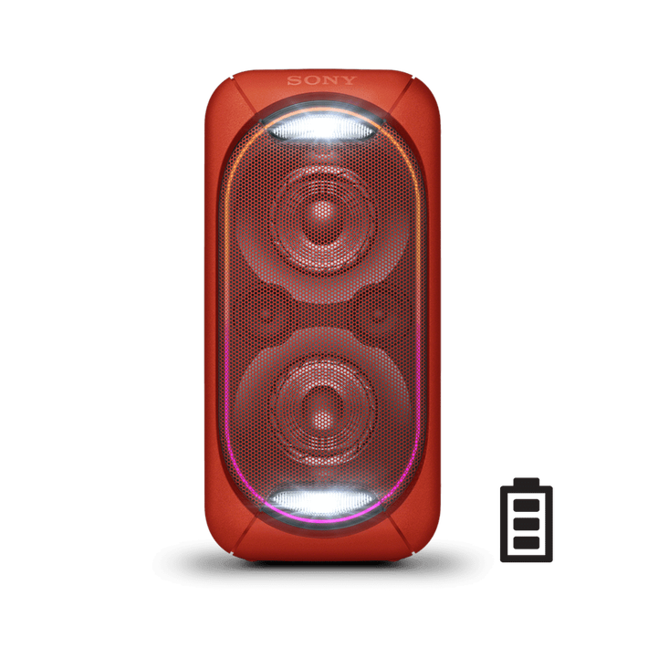 EXTRA BASS High Power Home Audio System with Battery (Red), , product-image