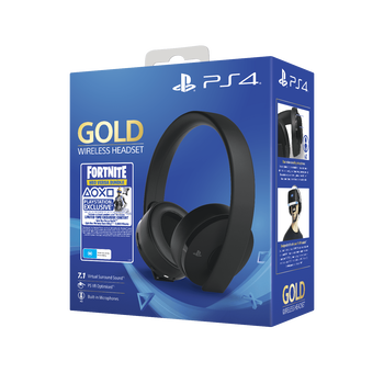 PlayStation4 Gold Wireless Stereo Headset - Fortnite (Black), , hi-res