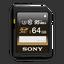64GB SDHC UHS-1 Class 10 Memory Card UZ Series