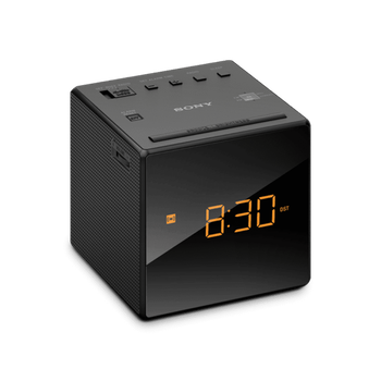 Single Alarm Clock Radio (Black), , hi-res