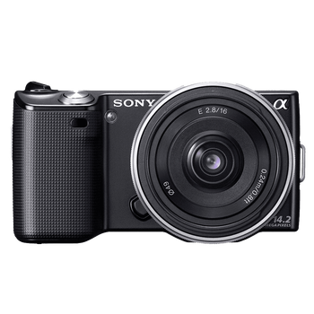 14.2 Megapixel Camera (Black) with SEL16F28 Lens, , hi-res