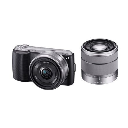 Body with SEL16F28 and SEL1855 Lenses (Black), , hi-res