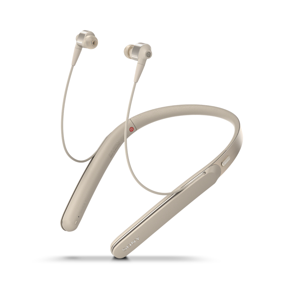 1000X Wireless Neckband Noise Cancelling Headphones (Gold) , , product-image