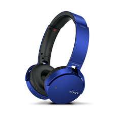 XB650BT EXTRA BASS Bluetooth Headphones (Blue)