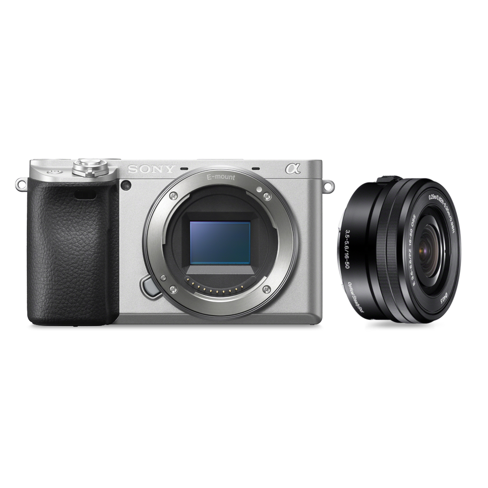 Alpha 6400 Premium Digital E-mount APS-C Camera Kit with 16-50mm Lens (Silver), , product-image