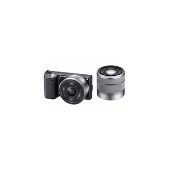 16.1 Mega Pixel Camera (Black) with SEL16F28 and SEL 1855 lenses, , hi-res