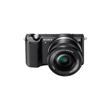 a5000 E-mount Camera with APS-C Sensor and 16-50 mm Zoom Lens