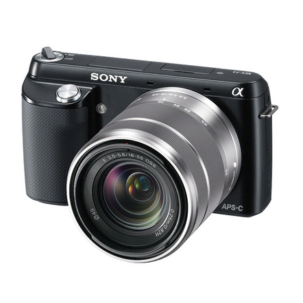 NEX-F3 (Black) with SEL1855 Lens, , hi-res