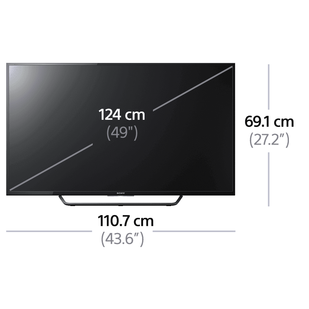 """49"""" X8000C 4K TV with Android, , product-image"""