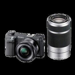 NEX-6 16.1 Mega Pixel Camera with SELP1650 and SEL55210 Lens, , hi-res