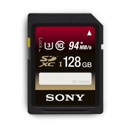 128GB SDXC UHS-1 Class 10 Memory Card UX Series, , hi-res