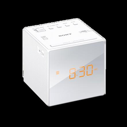 Single Alarm Clock Radio (White), , hi-res