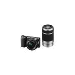 16.1 Mega Pixel Camera Body (Black) with SELP1650 and SEL55210 lens, , hi-res