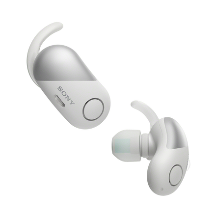 Wireless Noise Cancelling Headphones for Sports (White), , hi-res