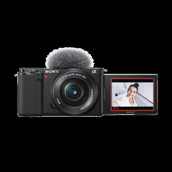 ZV-E10   Interchangeable Lens Vlog Camera with 16-50mm Lens Kit (Black), , product-image
