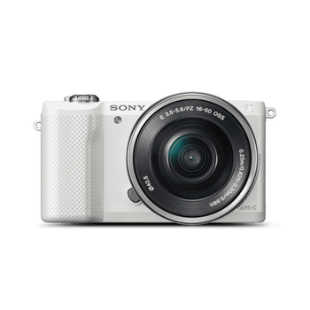 A5000 20.1MP APS-C ILC WHT WITH 16-50MM LENS, , hi-res