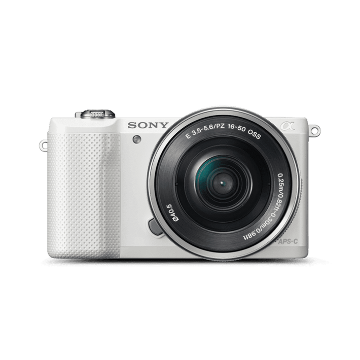 A5000 20.1MP APS-C ILC WHT WITH 16-50MM LENS, , product-image