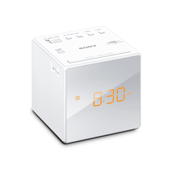 Single Alarm Clock Radio (White), , lifestyle-image
