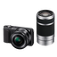 NEX3 16.1 Mega Pixel Camera Body (Black) with SELP1650 and SEL55210 Lens